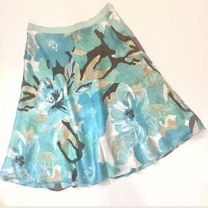 Banana Republic Dresses & Skirts - Banana Republic blue floral silk skirt