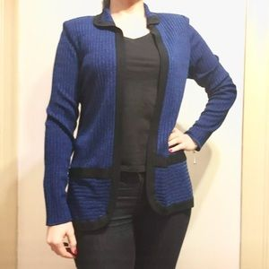 Misook Sweaters - Exclusively Misook Dark Navy Blue Cardigan Small