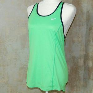 Nike Woman's Dri Fit Athletic Tank Top Green Medou