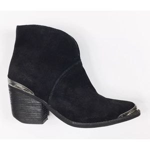Size 6.5 Jeffrey Campbell Black Suede Boot