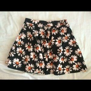Dresses & Skirts - black and yellow sunflower skater skirt