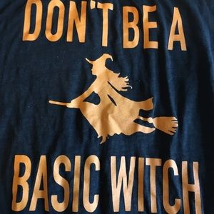 Fifth Sun Tops - Don't be a basic witch muscle tee