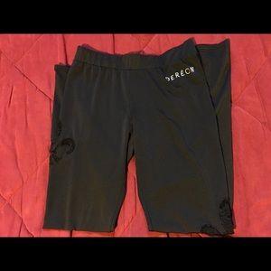Dereon Pants - HOUSE OF DEREON BEYONCÉ LACE BLACK LEGGINGS