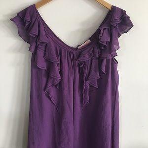 Rebecca Taylor Tops - Rebecca Taylor silk purple tiered sleeveless top 6