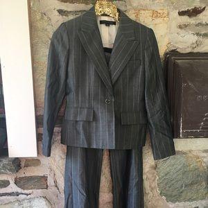 Anne Klein Jackets & Blazers - Ann Klein grey striped sz 4 petite two piece suit