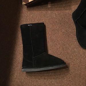 BearPaw Shoes - Women's tall black bearpaw boots