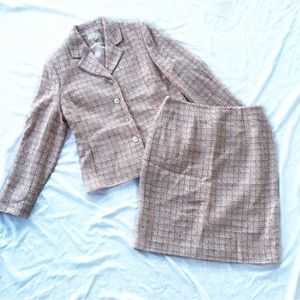 Amanda Smith Jackets & Blazers - Amanda Smith Petites Tweed Skirt Suit
