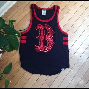 BOSTON REDSOX TANK TOP FROM PINK