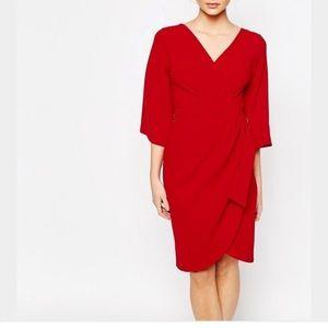 Closet Dresses & Skirts - Asos Closet Midi Wrap Dress with D-Ring Detail 8