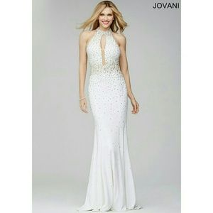 Jovani Dresses & Skirts - Jovavi gown white beaded and pearls. NWT