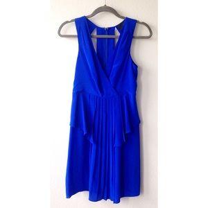 Greylin Dresses & Skirts - Greylin - Blue Silk dress with peplum