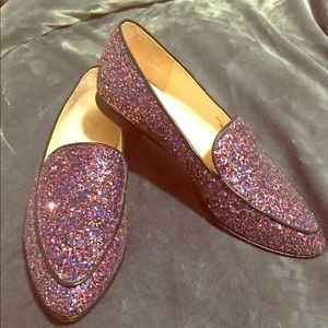 Kate Spade glitter loafers like new!