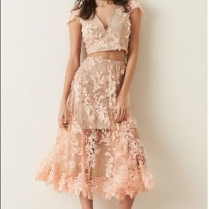 Dress the Population Dresses & Skirts - Stunning Two Piece Floral Lace and Appliqué Dress