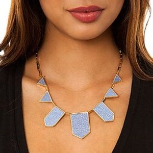 House of Harlow 1960 Jewelry - House of Harlow Blue Star Five Station Neckalce