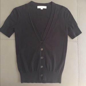Loft Black Short Sleeve Cardigan