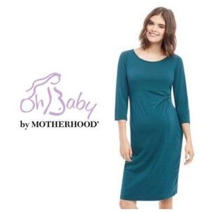 Oh Baby by Motherhood Dresses & Skirts - Oh baby by Motherhood Striped Maternity Dress XL