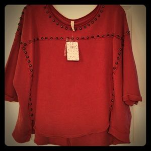 Free People Studded Sweatshirt