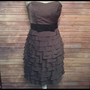 NWOT H&M strapless party dress in charcoal