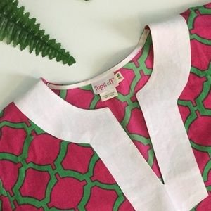 Vineyard Vines Dresses & Skirts - BOUTIQUE Pink/Green Tunic Dress