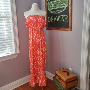 Mud Pie Dresses & Skirts - Patterned Strapless Maxi Md