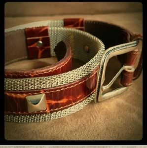 Linea Pelle Accessories - Vintage! Line Pellets Belt (XS)