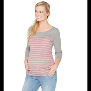Oh Baby by Motherhood Tops - 🆕 Oh Baby by Motherhood Striped Maternity Tee