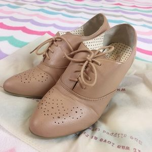 ModCloth Shoes - BAIT Footwear Harrow Nude Bootie