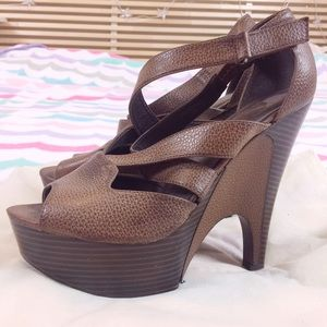 Shoes - Strappy platform heels