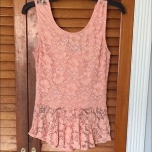 Joyce Leslie Tops - Lace top with bow