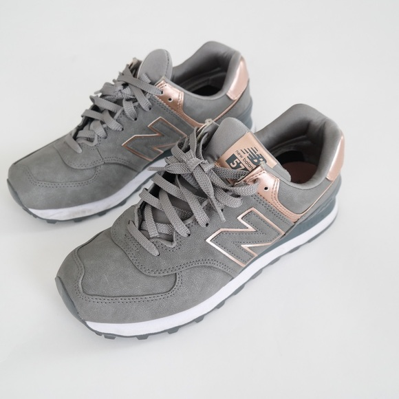 new balance rose gold et grise 574