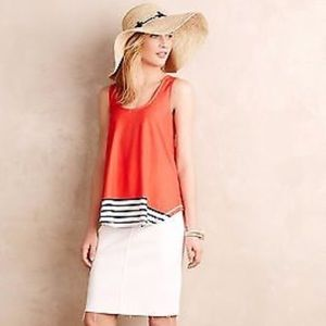 Anthropologie Tops - Anthropologie Deletta stripe tank cut out back XS