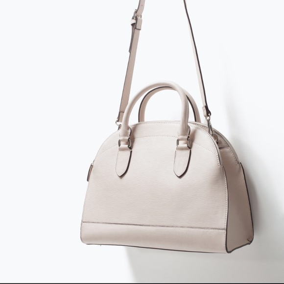 Zara - Last one!! Zara off-white city handbag from Melissa's ...