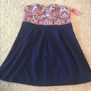 NWT Xhiliration strapless gorgeous dress XXL