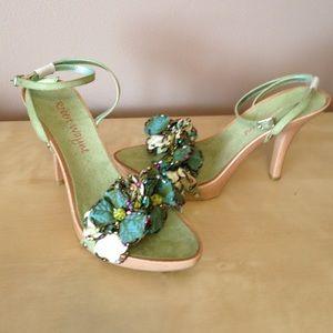 Robert Wayne Shoes - Brand new never worn mint green suede heels