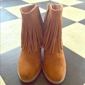target Shoes - Fringe booties