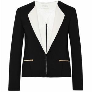 Sandro Jackets & Blazers - Sandro Blazer with White Collar and Gold Accents