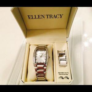 Ellen Tracy Accessories - ⚡️NWT Ellen Tracy silver watch; ladies arm jewelry