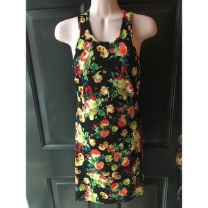 ✨ Beautiful Floral Spandex Tank Dress