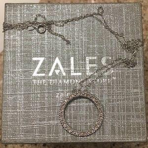 Zales Jewelry - Zales Open Circle Pendant Necklace