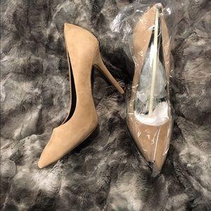 Boutique 9 suede nude heels size 10