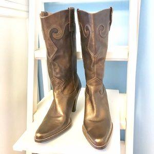 """""""Silverado"""" Bronze Cowboy-Style Boots - EUC"""