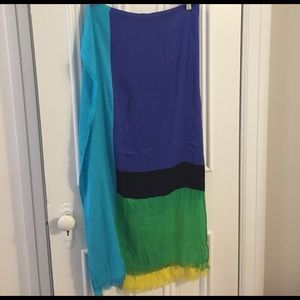 Kate Spade ♠️ scarf multi-color block print
