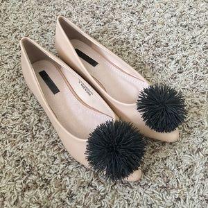 ASOS Shoes - ❗️NWOT | Lost Ink Pom Pom Flat