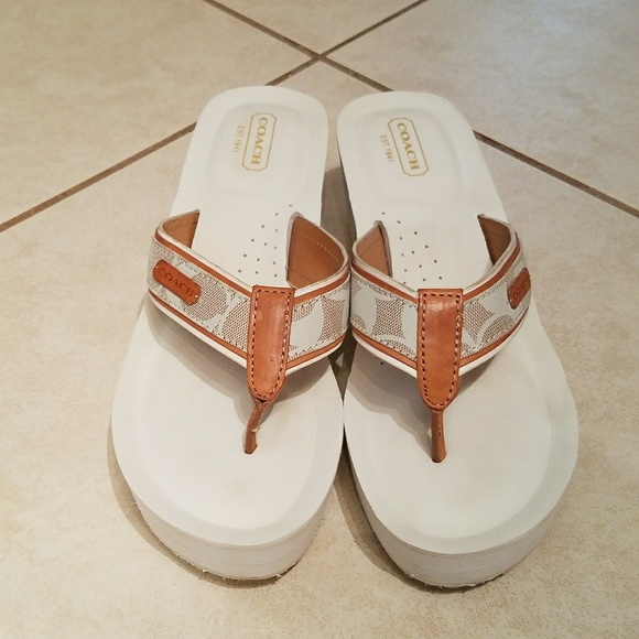 ea452939f073 Coach Shoes - Coach Juliet Wedge Thong Flip Flop Sandals