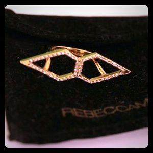 Rebecca Minkoff Jewelry - Rebecca Minkoff Gold & Crystal Pave Oversized Ring