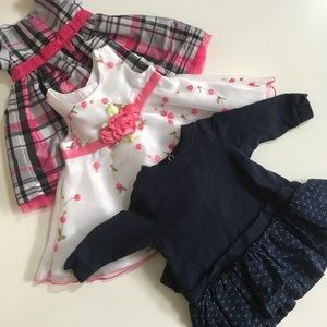 Carter's Other - Lot of 3 newborn/0-3 month dresses