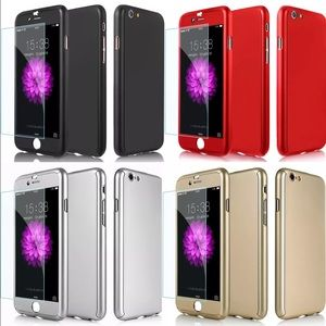 Other - Hybrid Hard Case + Tempered Glass iphone 7/7 plus
