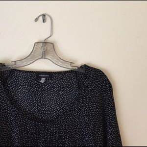 Spense Tops - Airy Black and White Dotted Blouse
