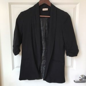 Cotton 3/4 Sleeve Blazer
