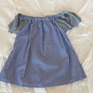 Goodnight Macaroon Tops - Goodnight Macaroon striped off shoulder top